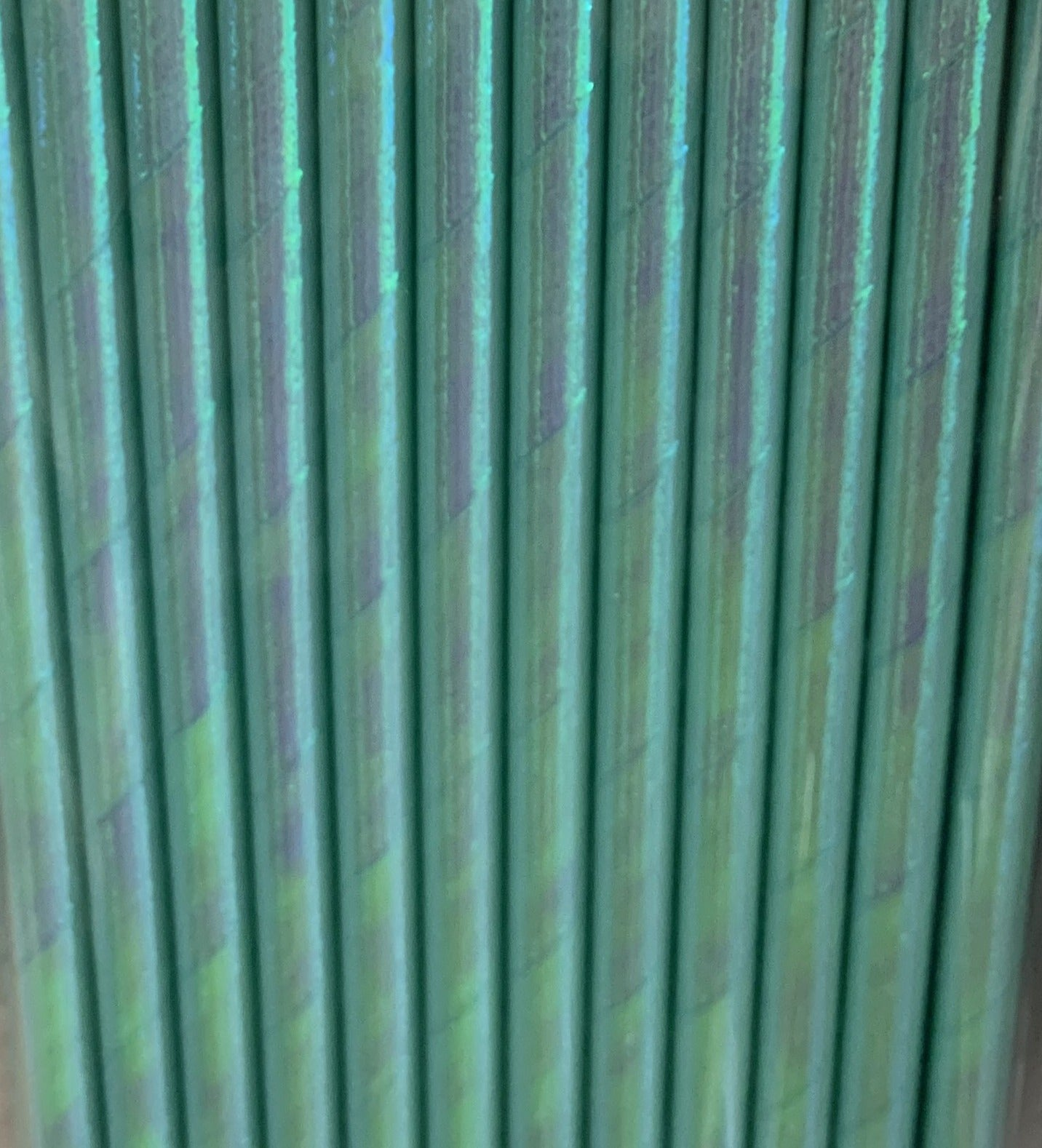 Blue Foiled Iridescent Paper Straws