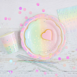 Iridescent Dots Pastel Paper Cups