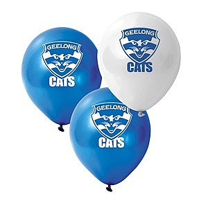 Geelong AFL Logo Printed Latex Balloon