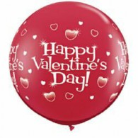 happy valentines day 90cm balloon