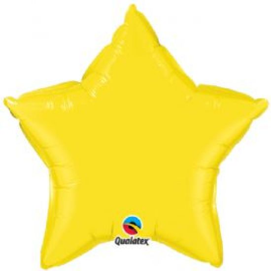 Yellow Star Shaped Foil Balloon