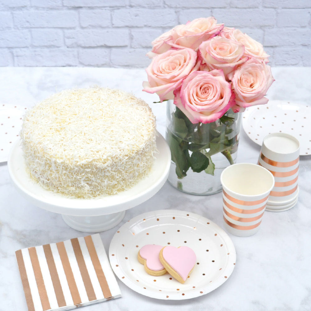 Rose Gold Dots Dessert Plates