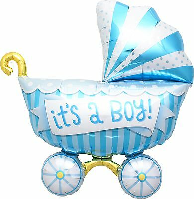 It's A Boy Buggy Foil Balloon Shape