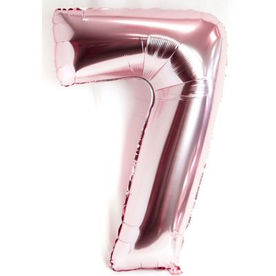 Pearl Light Pink Number 7 Foil Balloon