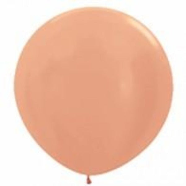 metallic rose gold 90cm latex balloon