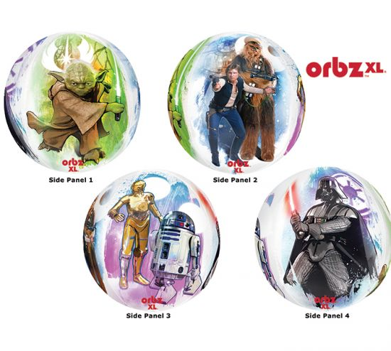 Star Wars 4 Panel Orbz Foil Balloon
