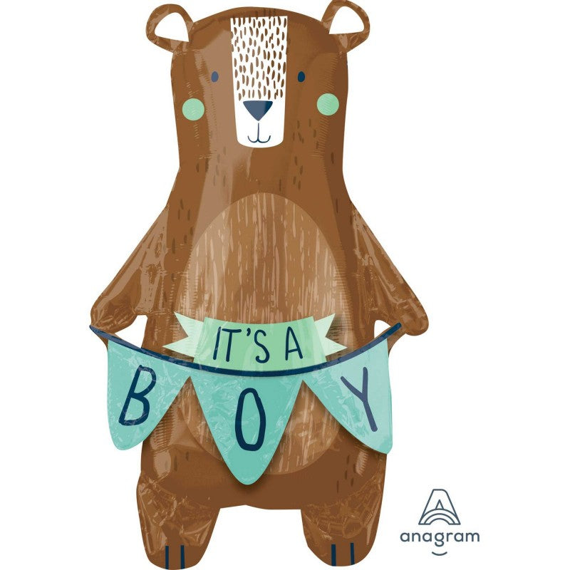 Bearly It's A Boy Foil Balloon Shape