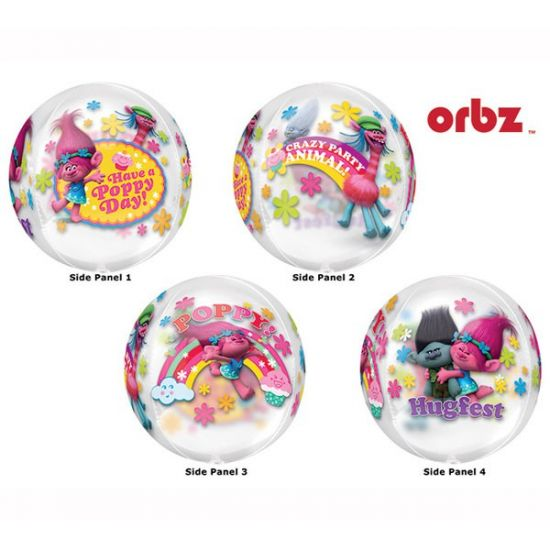 Dreamworks Trolls Poppy Transparent Orbz Balloon