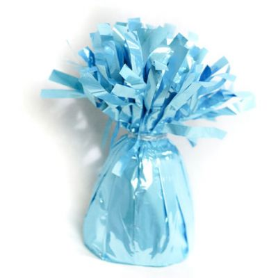 Light Blue Number 1 One large Foil Balloon