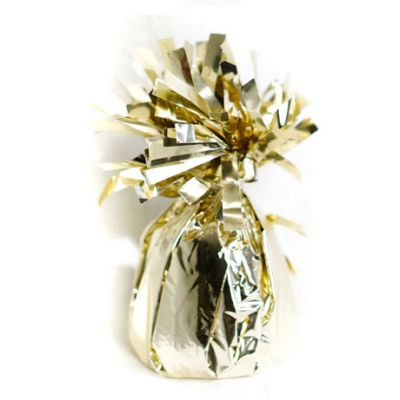 Number 8 White Gold Foil Balloon