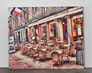 Café Rouge 20x24 Canvas
