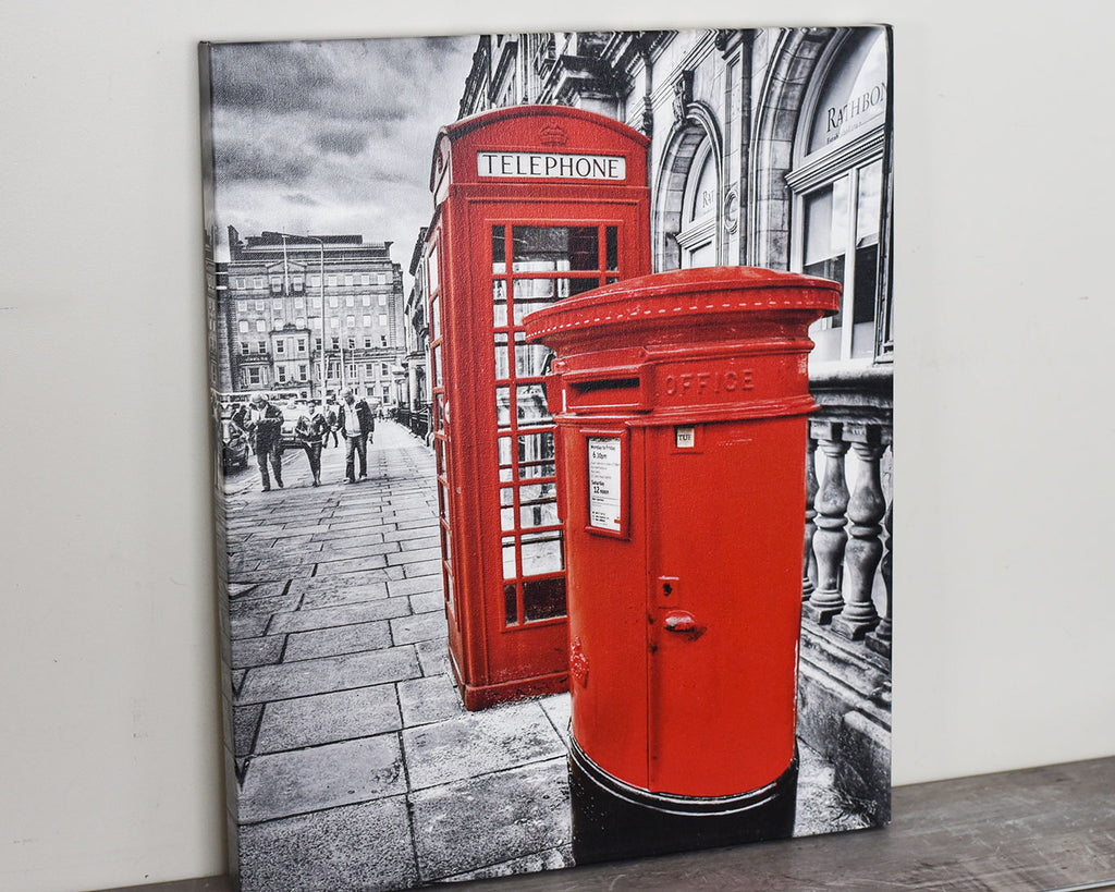 Telephone Booth Mail Box, 20x24 Canvas