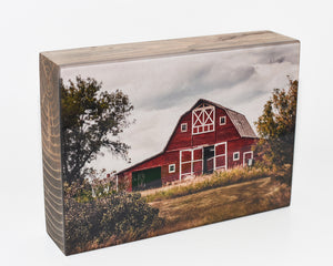 Big Red Barn, 5x7 Photo Block