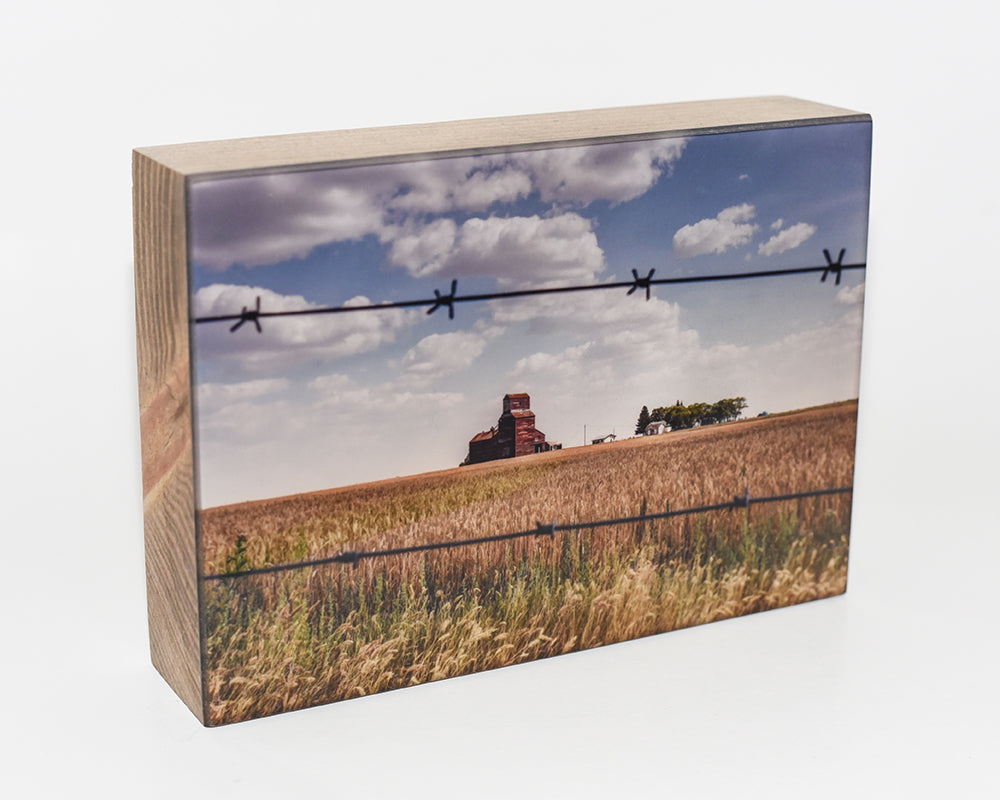 Vintage Sask Pool Elevator, 5x7 Photo Block