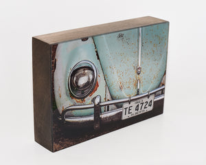 Teal VW Bug 5x7 Photo Block