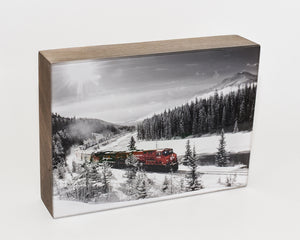 CP Rail Train Morant's Curve 5x7 Photo Block