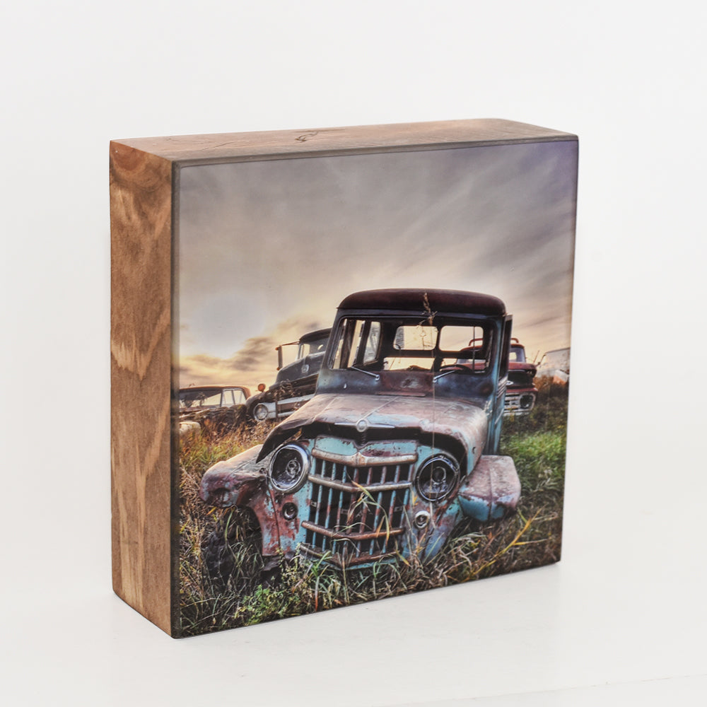 Vintage Willys Jeep, 5x5 Photo Block