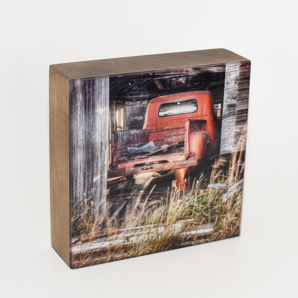 Fargo Truck in Barn 5x5 Photo Block