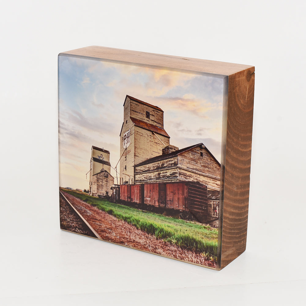 Mossleigh Grain Elevator 5x5 Photo Block