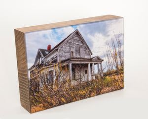 White Homestead 5x7 Photo Block