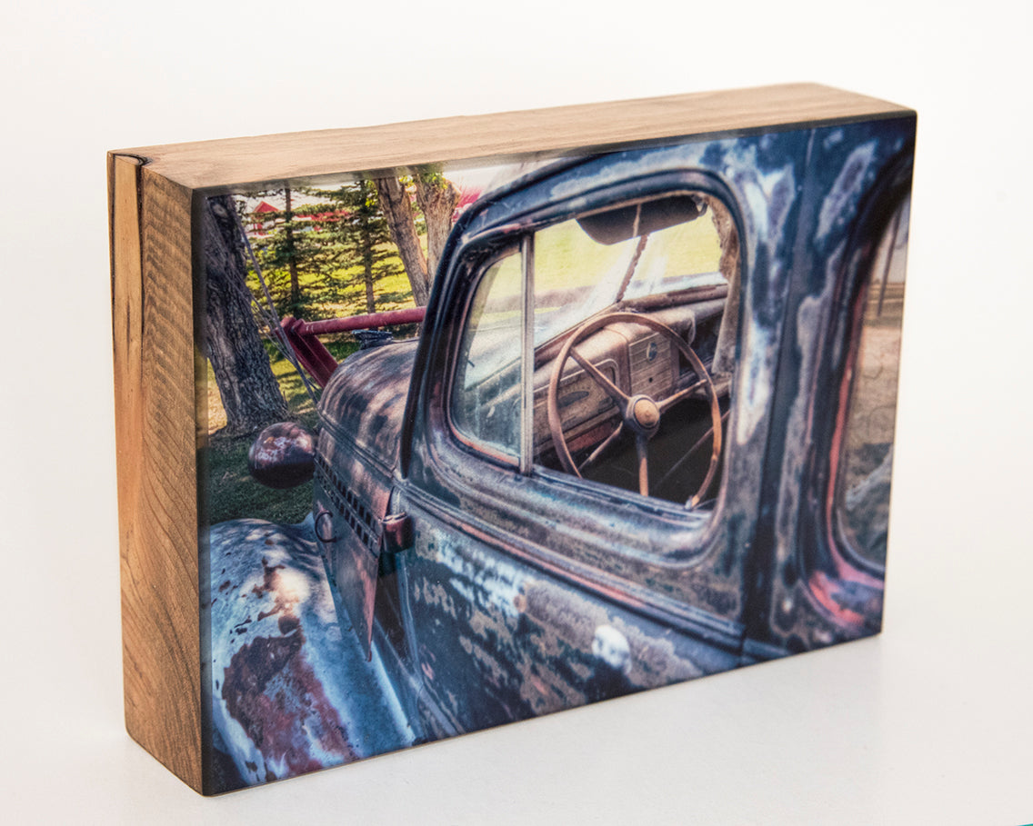 Jack Black 1930's Chevrolet Car 5x7 Photo Block
