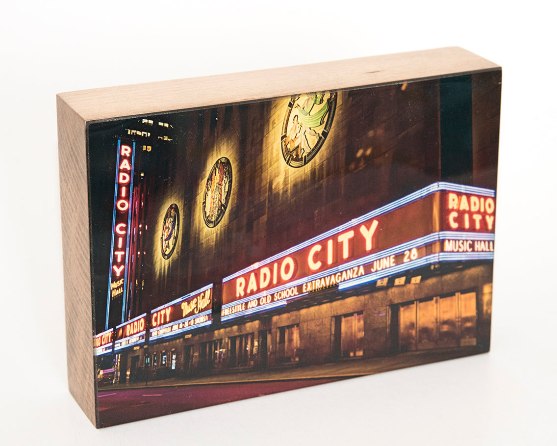 Radio City NYC 5x7 Photo Block
