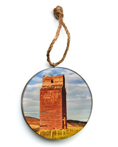 Alberta Grain Elevator Christmas Ornament