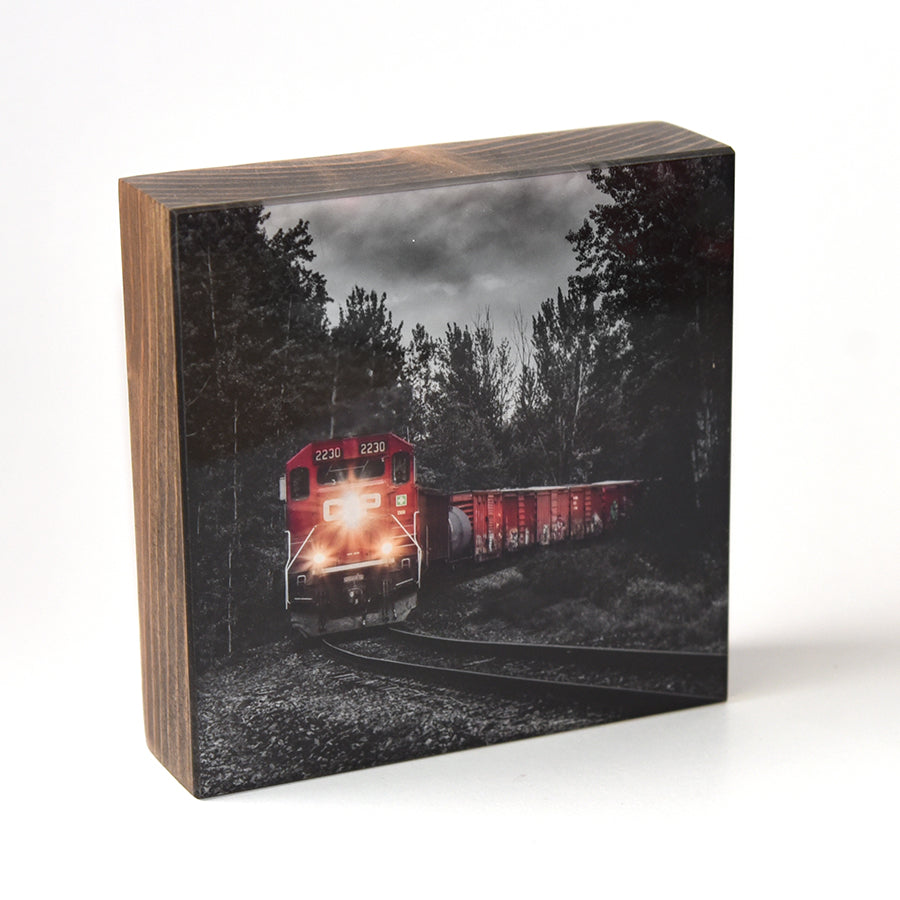 Golden Train 5x5 Photo Block