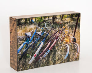 Rainbow Bikes 5x7 Photo Block