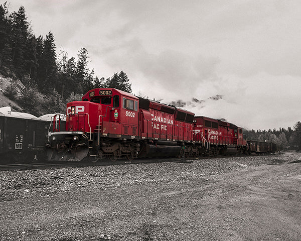CP Rail Train in fog