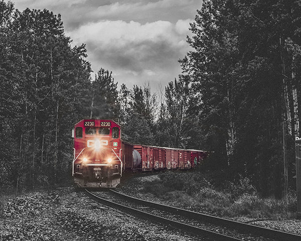 CP Rail Train Near Golden BC