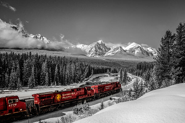 CP Rail Train In Morant's Curve (other side of the curve)