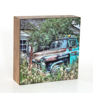 Hank Chevy Truck 5x5 Photo Block