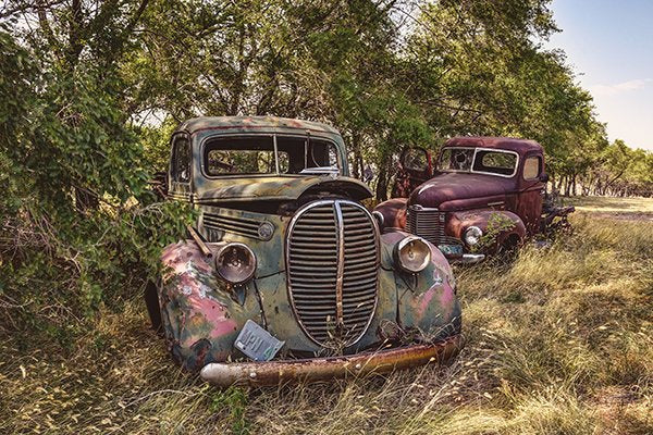 Vintage Ford And International Trucks