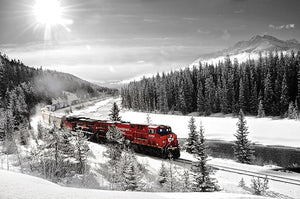 CP Rail Train In Morant's Curve
