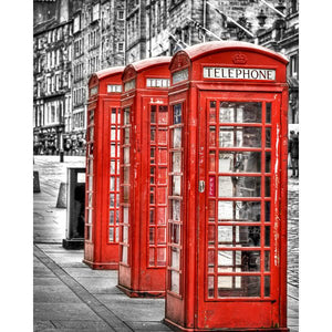 Red Telephone Booth, Royal Mile