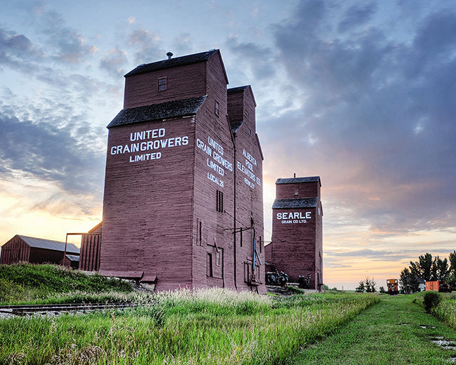 Rowley Elevator Row At Sunset