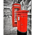 Red Phone Booth And Mail Box