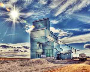 Alberta Wheat Pool Elevator In Arrowwood - 8x10