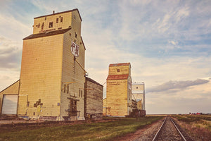 Elevator Row In Rural Alberta