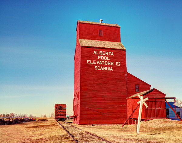 Alberta Pool Elevator In Scandia - 8x10