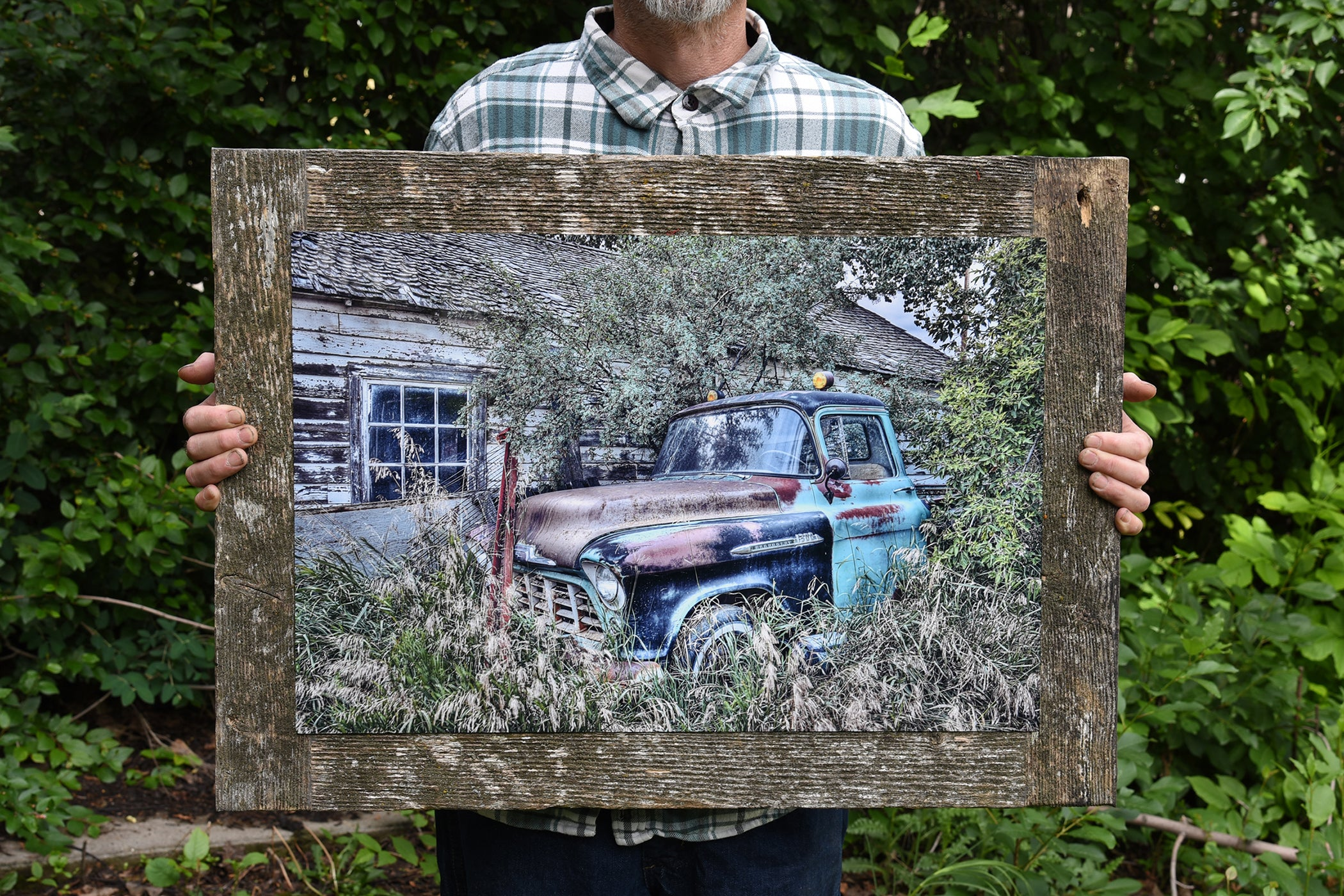 1956's Chevrolet Truck barn wood frame