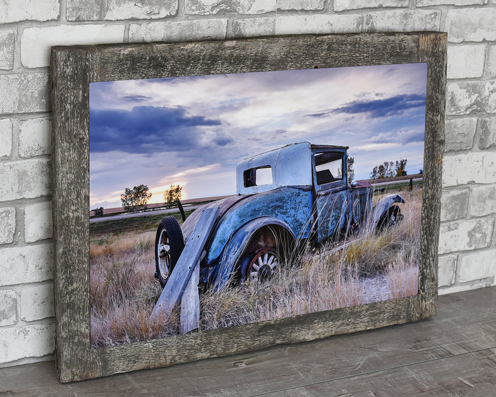 1920's Vintage Essex Car Barn Wood Frame