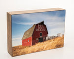 The White and Red Barn 5x7 Photo Block