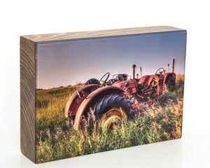 Vintage Massey-Harris 5x7 Photo Block