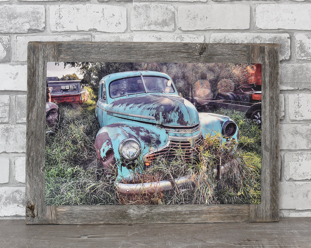 1940's Chevrolet Car Barn Wood Frame