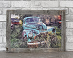 1940's Chevrolet Car, 12x18 Barn Wood Frame