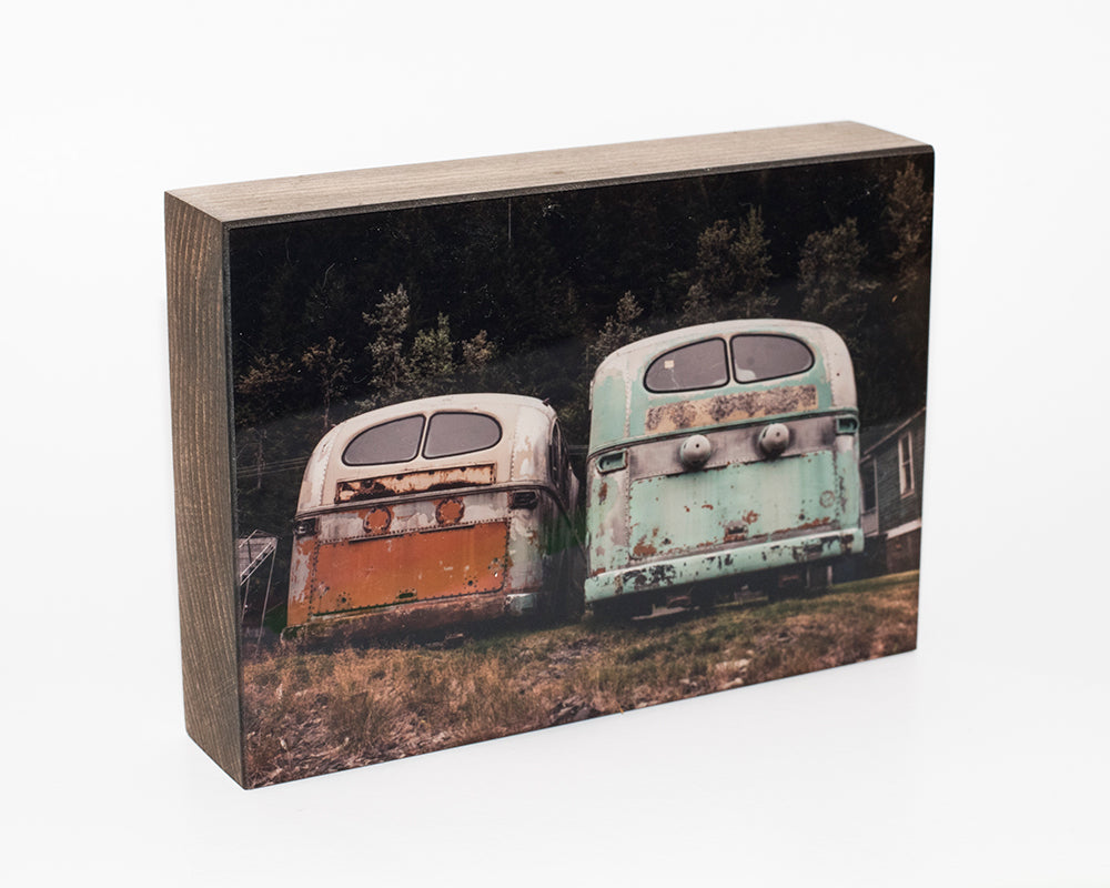 Benny and June,Trolley Buses, 5x7 Photo Block