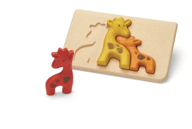 puzzle Girafe Plan Toys - jucarii ecologice