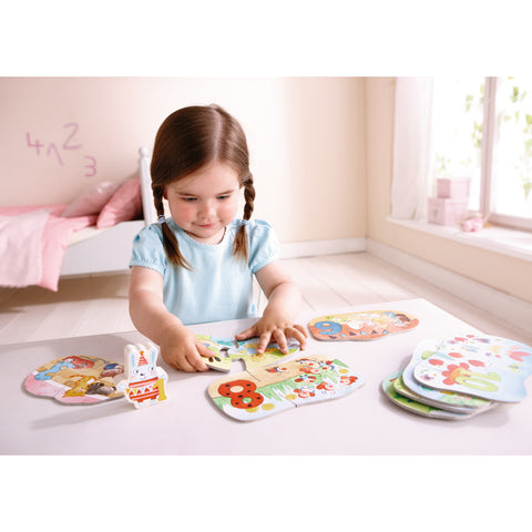 HABA set puzzle duo Numere 1-10 - jocuri educative copii